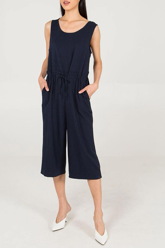 Drawstring Relaxed Jumpsuit