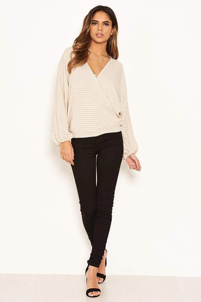 Polka Dot Wrap Over Top