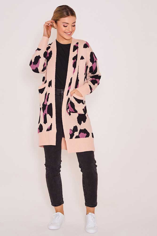 Leopard Blush Cardigan