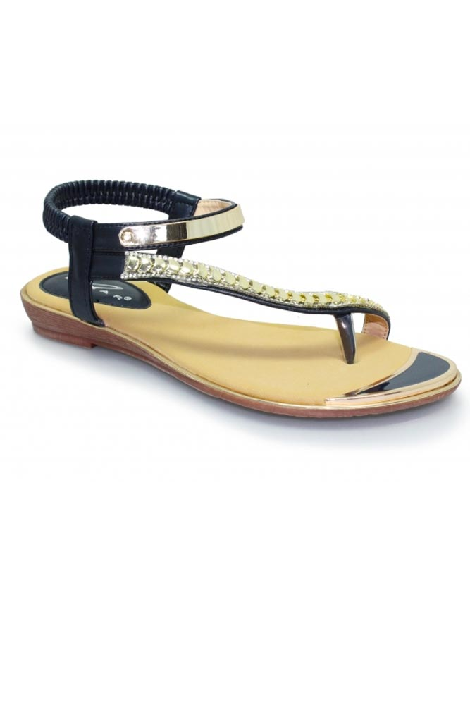 Asia Navy and Gold Sandal