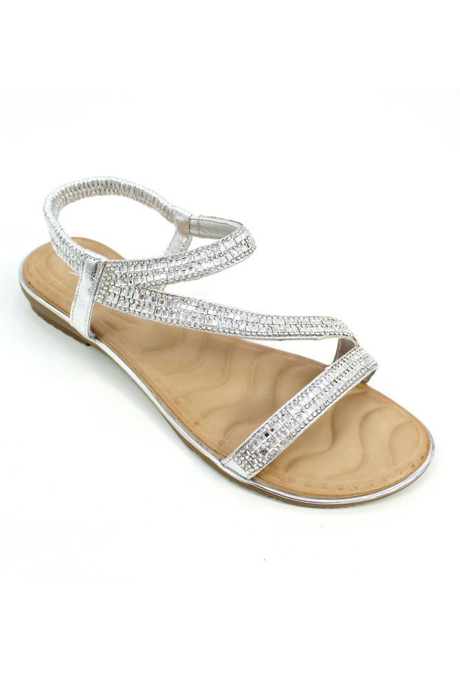 f6147689f03 Blaise Silver Sparkle Sandal