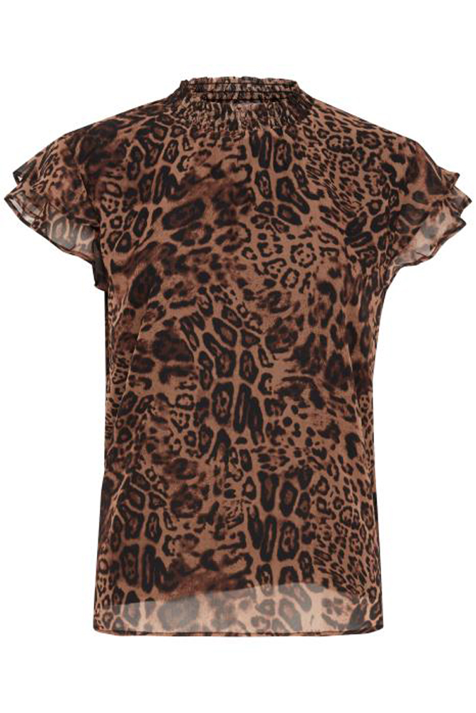 Byoung Fiona Leopard Print Blouse