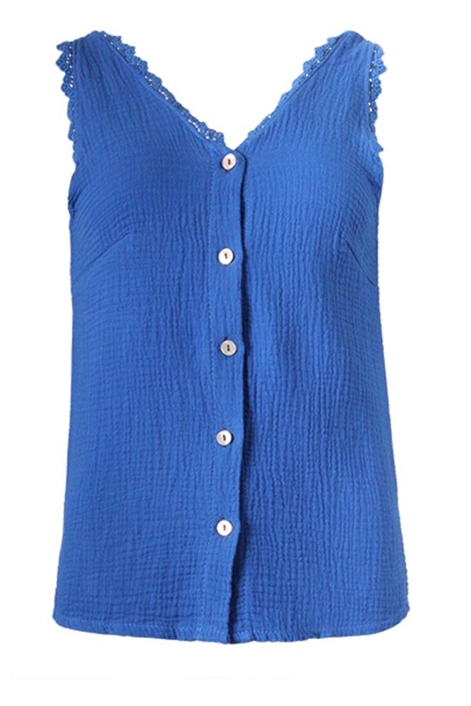 Carrie Button Vest Top
