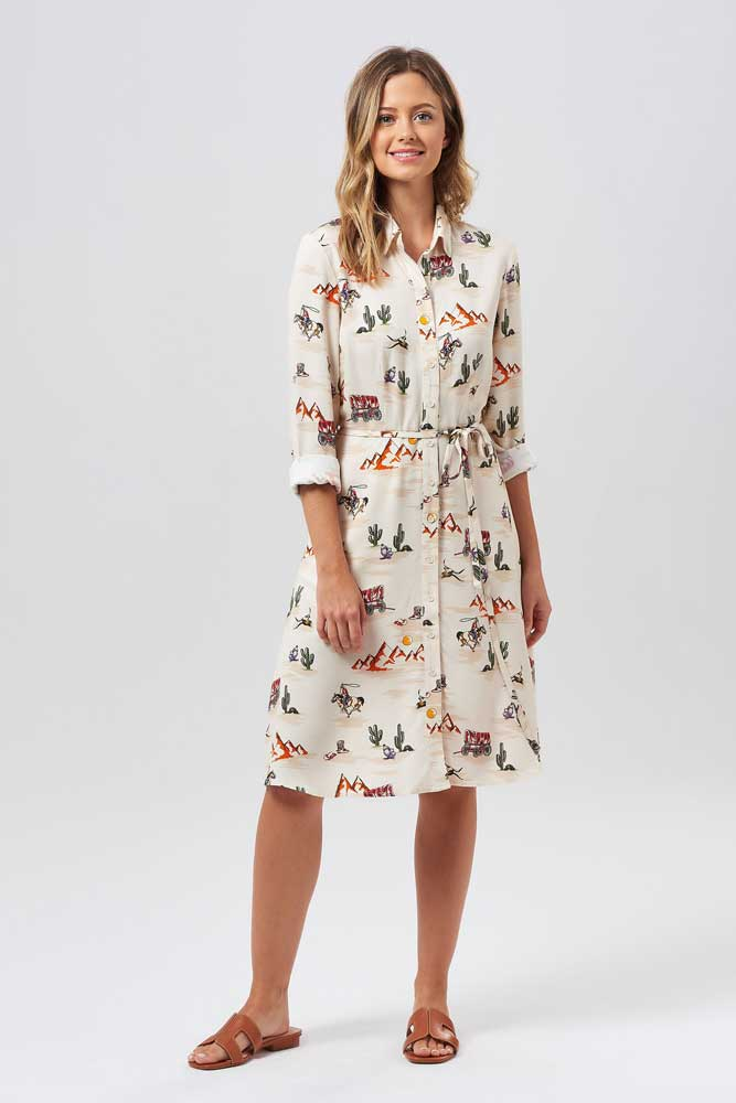 Sugarhill Brighton Zadie Vintage Cowboy Shirt Dress