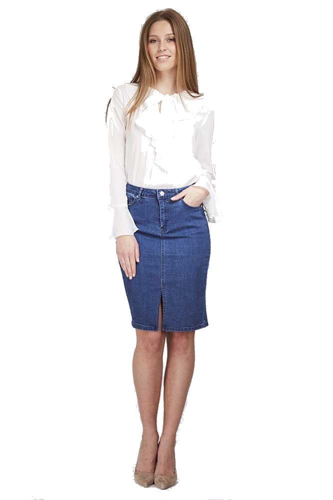 Denim Pencil Skirt | Gommap Blog