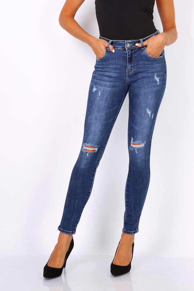 Toxik Carrie Distressed Skinny Jeans