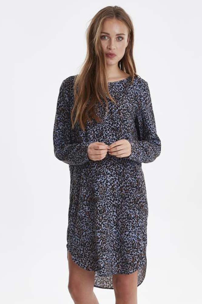 ICHI Barbara Animal Print Dress