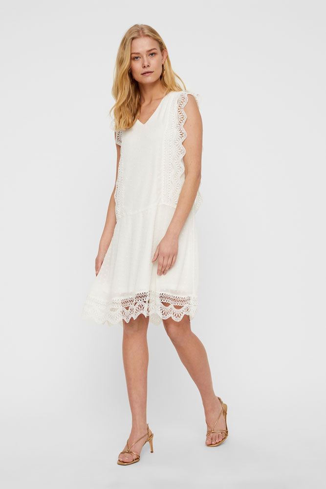 ICHI Carly Embroidered Dress
