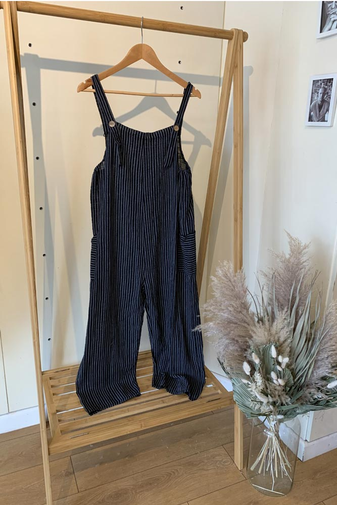 Linen Stripe Dungaree