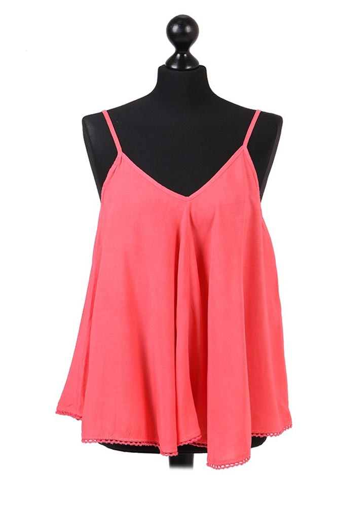 Tilly Summer Cami Top in Pink