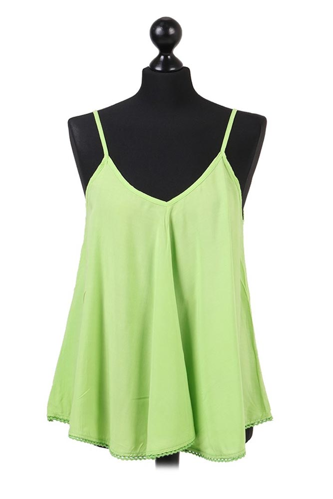 Tilly Summer Cami Top in Lime