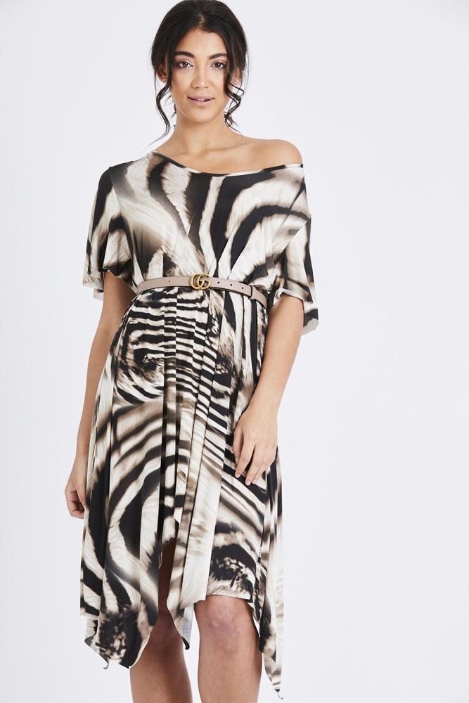 Zebra stripe print dress match clothing jpg 667x1000 Zebra patterned dress a3560d1d7