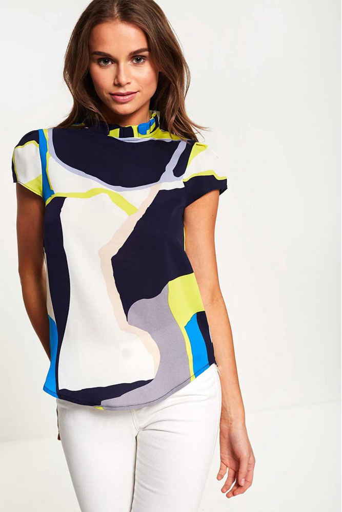 MImi Abstract Print Top