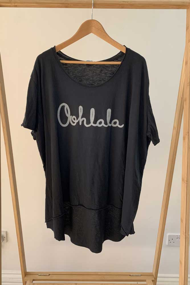 Ohlala Relaxed Tshirt in Black