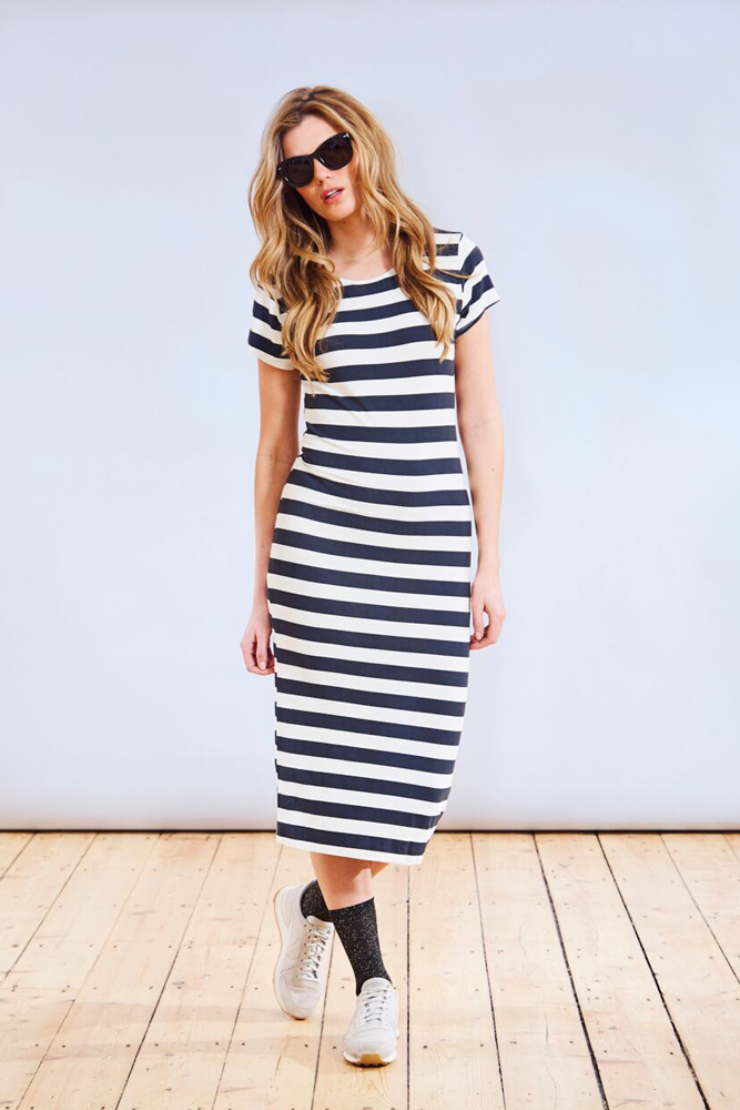 A Postcard From Brighton Bianca Stripe Midi Dress