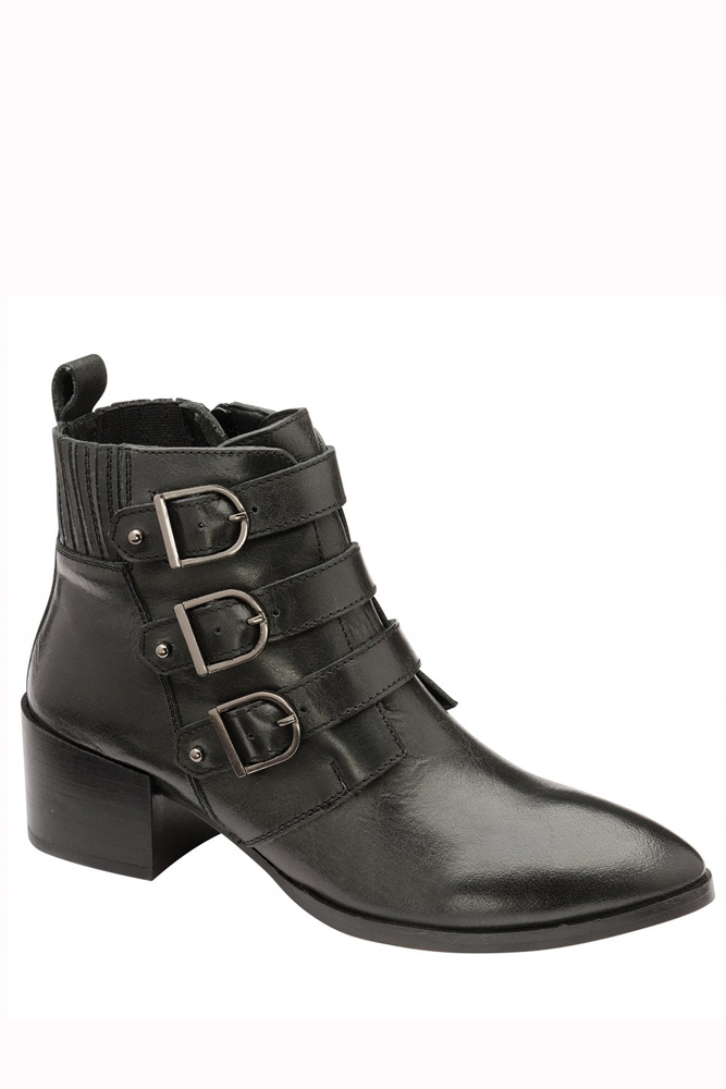 Ravel Thorne Buckle Leather Ankle Boot