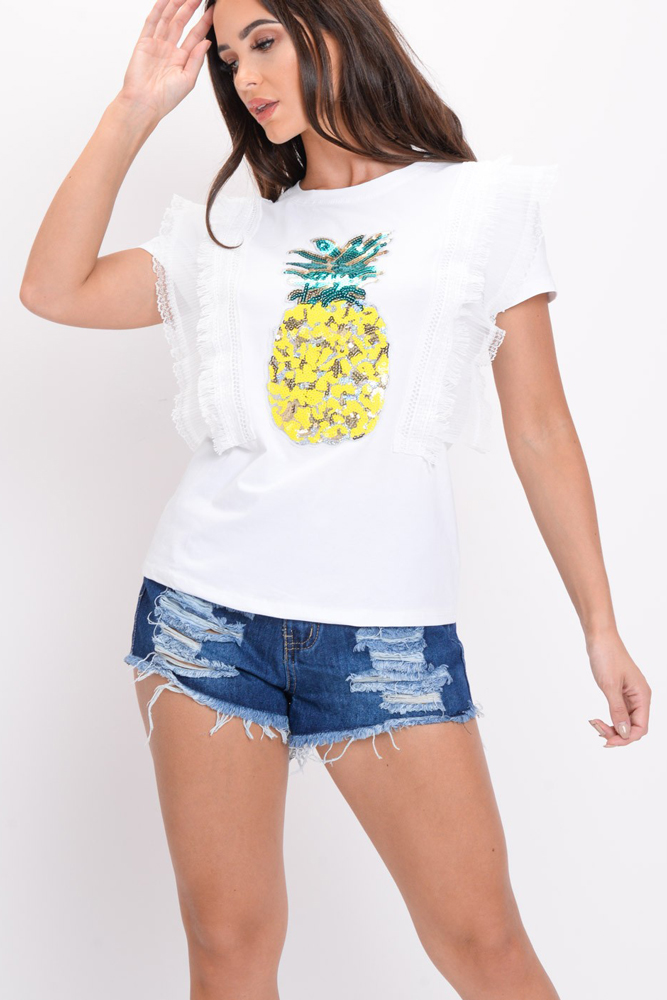 Sequin Pineapple Top