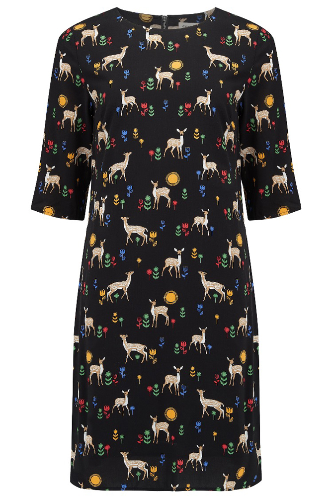 Sugarhill Brighton Fawn Print Shift Dress