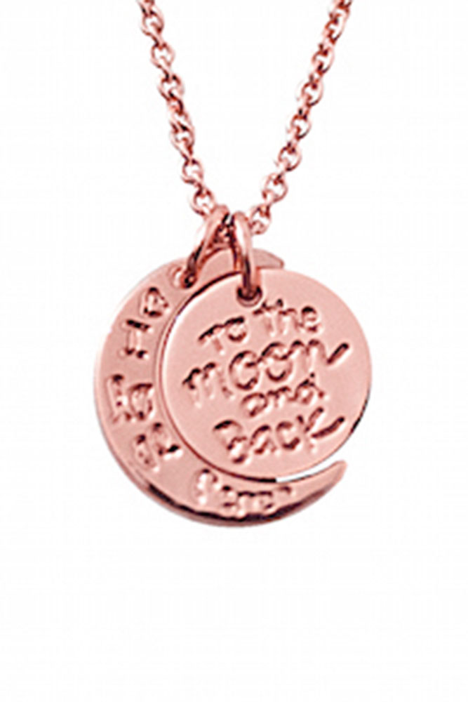 To the Moon and Back Rose Gold Necklace
