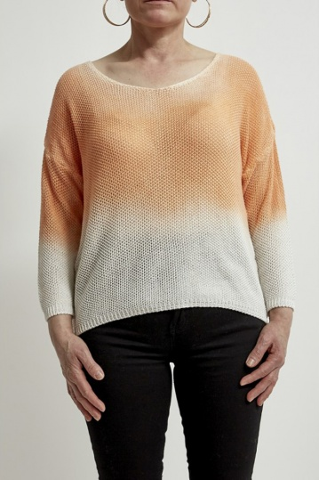 Orange Ombre Knitted Top