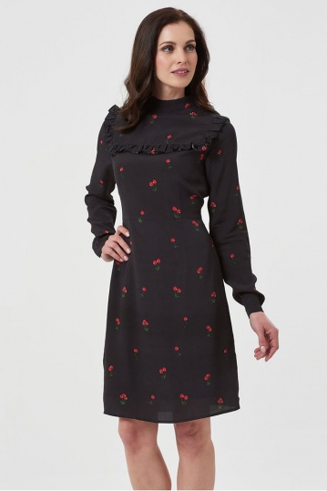 Sugarhill Brighton Lolita Winterberry Cherry Frill Dress