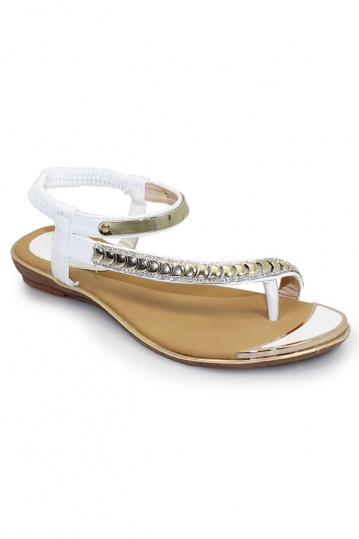 71b8207985a6 Asia White and Gold Sandal