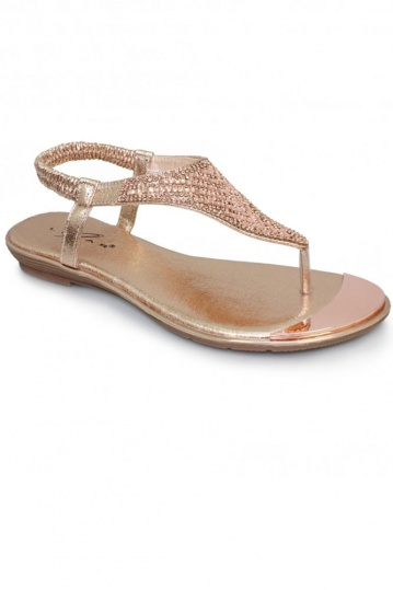 Florence Rose Gold Sandal
