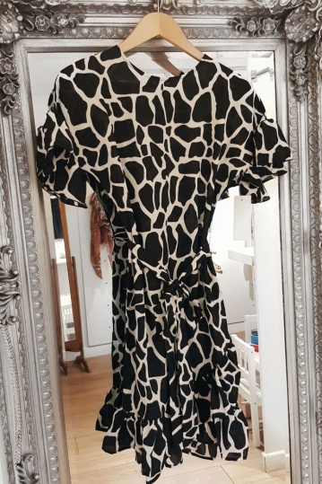 Never Fully Dressed Marrakech Giraffe Print Dress