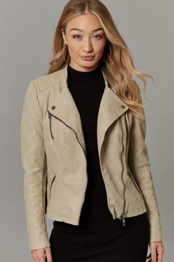 Only Ava Vintage Biker Jacket in Cashmere