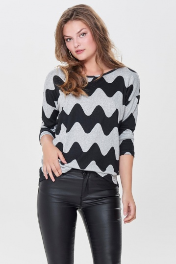 Only Elcos  Wavy Print Top
