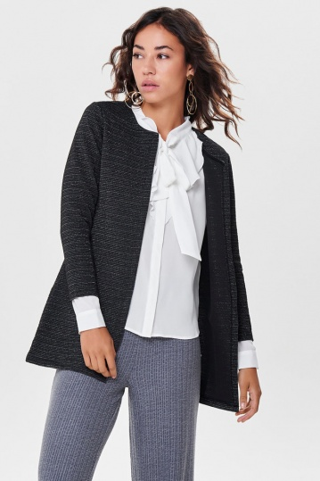 Only Leco Black Glitter Cardigan
