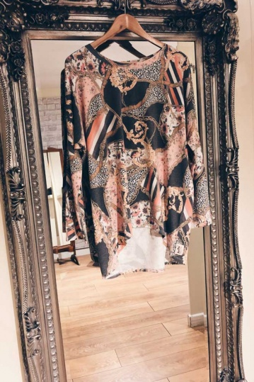 A Postcard From Brighton Mel Chain Print Top