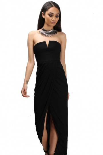 Rare Wrap Bandeau Maxi Dress
