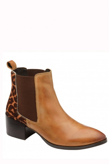 Ravel Saxman Tan Leather  Ankle Boot