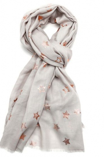 Rose Gold Star Scarf