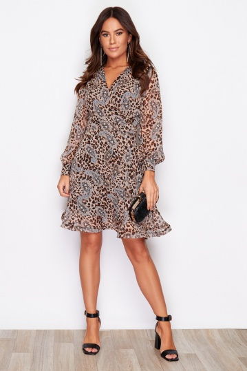 Olivia Wrap over Animal Dress