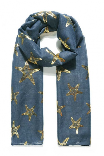 Starfish Scarf in Navy
