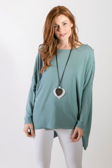 Studded Tunic Top in Ocean