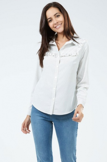 Sugarhill Boutique Grace Star Frill Shirt