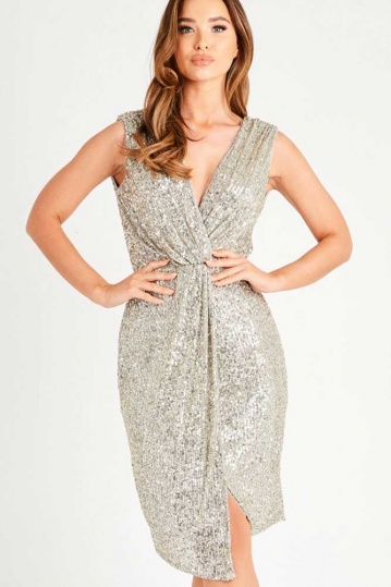 Rimi Sequin Cross Over Dress