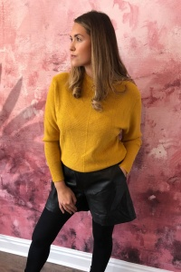 Artlove Round Neck Jumper in Ochre
