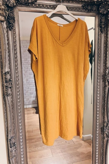 Trixie Tshirt Dress in Yellow