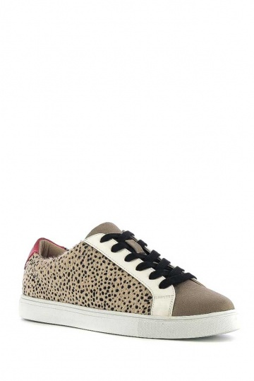Alba Cheetah Lace up Trainer